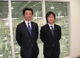 笹井プラントにて西川社長と兼田氏